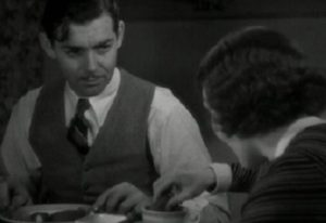 Gable's dunking lesson in It Happened One Night