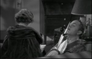 Nick and Nora (Powell and Loy) bantering in The Thin Man