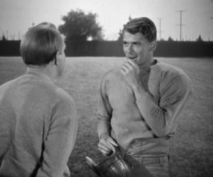Pat O'Brien and Ronald Reagan in Knute Rockne-All American