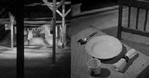 The quiet street; the untouched place setting for Elsie
