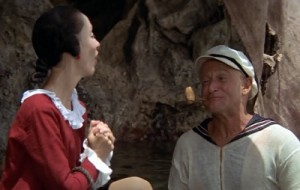 Olive Oyl (Shelley Duvall) with Popeye
