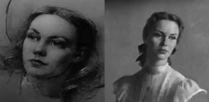 A sketch and a later portrait of Jennie (the latter by artist Robert Brackman)
