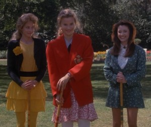The Three Heathers: McNamara, Chandler (queen), and Duke